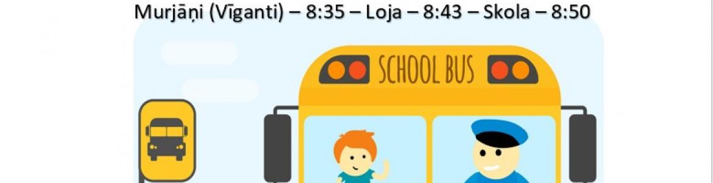 Autobusa kursēšanas grafiks 1.septembrī