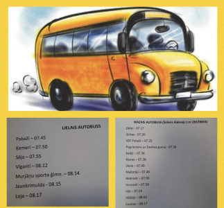 Autobusu kursēšanas grafiks uz Sējas skolu