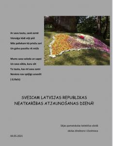 Sveicam Latvijas neatkarības atjaunošanas gadadienā!